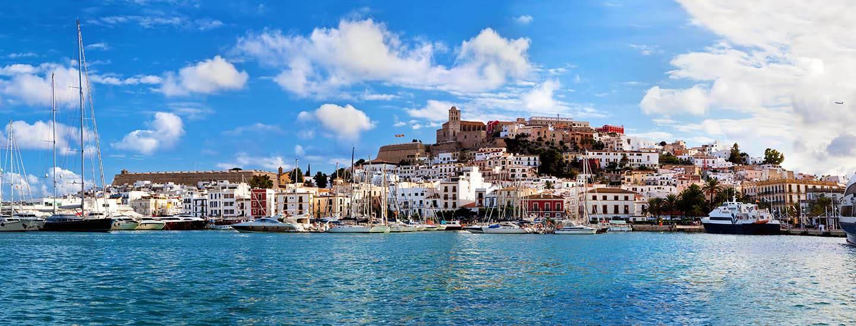 Panorama of Ibiza old city – Eivissa. Spain, Balearic islands